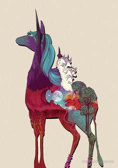 Way pretty Last Unicorn design, available on shirts, prints, etc.