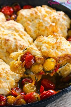 Tomato Cobbler - a great way to use garden tomatoes!
