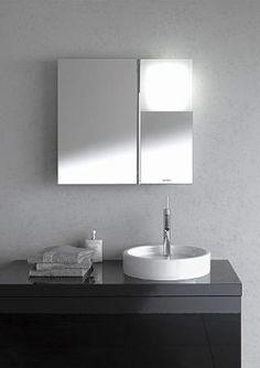 Duravit - Philippe Stark: Spiegelschrank mit Drehachse und Leuchtquadrat
