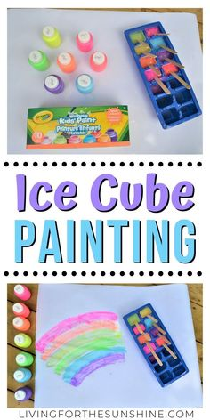 Awesome Frozen Paint Art Activity - The Play Based Mom