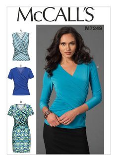 M7249, Misses' Tops and Dress Fall 2015