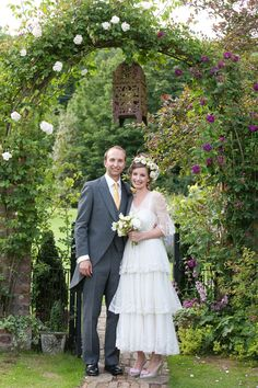 A Tiered, Edwardian Lace Wedding Dress for a Beatrix Potter Inspired English Summer Wedding...