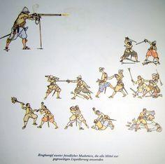 Kampf Musketier gegen Musketier