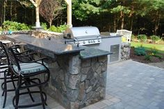 Outdoor Granite Countertops  Outdoor Kitchen  The Gardeners  Kingston, MA