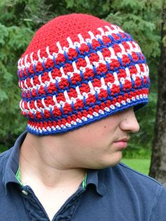 Crochet - Accessory Patterns - Hats, Hoods & Head Warmers - Chain Gang Beanie