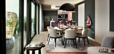 Living Room3 New Build Penthouse in London Exuding Spontaneity and Colour
