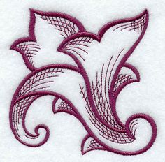 Baroque Flourish design (E6793) from www.Emblibrary.com