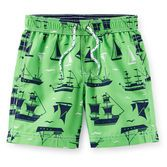 These pirate ship trunks will help on his search for treasure! Pair them with matching rash guard to complete his look. Baby Swimwear, Baby Swimsuit, Carters Baby Boys, Toddler Boys, Surf, Boys Swim Trunks, Baby Swimming, Swim Shorts, Boy Shorts