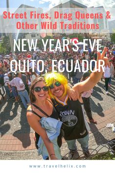 Everything you need to know about celebrating New Year's in Ecuador. Little did we know, we were in for one of the most tradition rich experience full of celebrations that lasted for days. This is one you don't want to miss! #Ecuador #newyears #newyearseve #quitoecuador #quito #quitothingstodo #celebration #traveldeeper #southamericatravel