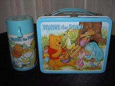 1978 Winnie the Pooh Aladdin Lunch Box with Thermos
