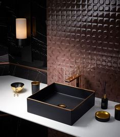45 Ideas For Bathroom Sink Gold Taps Copper Bathroom, White Bathroom, Bathroom Faucets, Modern Bathroom, Neutral Bathroom, Master Bathroom, Black And Gold Bathroom, Parisian Bathroom, Industrial Bathroom