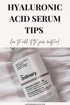 Hyaluronic acid is a super popular skincare product these days! It seems to be in tons of different skin care products and everyone's talking about it! But what is hyaluronic acid? And how do you use it? Here are some of the best hyaluronic acid tips so you can get the most out of this super-hydrating skincare product that's perfect for all skin types! Beauty Tips For Skin, Skin Care Tips, Diy Beauty, The Ordinary Hyaluronic Acid, The Ordinary Skincare, Hydrating Serum, Best Skincare Products, Younger Looking Skin, Facial Oil