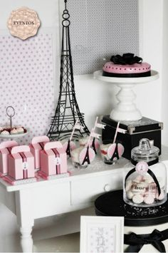Melody- this makes me think of you...cute pink and black theme