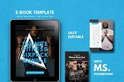 Fitness Bold eBook Template Keynote by rivatxfz Keynote Template, Brochure Template, Cover Template, Self Publishing, Create Yourself, Color Schemes, Presentation, Things To Come, Templates