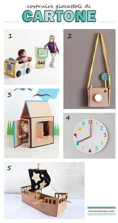 Cute Crafts, Diy And Crafts, Crafts For Kids, Project Board, Cardboard Crafts, Fun Activities For Kids, Diy Toys, Projects For Kids, Cool Toys