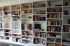 A whole wall of book shelves ... be still my heart.