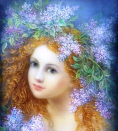 """Hope Strelkina - a professional artist, member of Russian Union of Artists. Born in 1960 in the village of Fedoskino, (40 kilometers north of Moscow) graduated from Fedoskino school of miniature painting. She worked at the factory Fedoskino lacquer miniature. Her works are in Fedoskino factory museum, as well as in private collections in England, France and America. In 1997 Hope's work was featured as """"angels playing music"""" by U.S. company Bradford Exchange."""