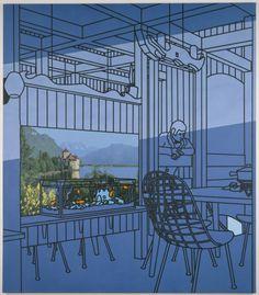 Tate Britain presents a survey exhibition of the celebrated British painter Patrick Caulfield. Pop Art, Yves Klein, Gary Hume, James Rosenquist, Tate Britain, Tate Gallery, Claes Oldenburg, Jasper Johns, Gcse Art