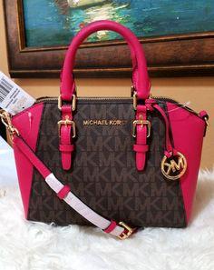 5bf543acc539b2 Michael Kors Ciara Medium Messenger Satchel logo Crossbody Bag Ultra pink  NWT