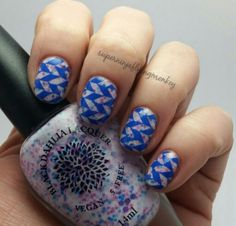 Black Dahlia Lacquer and Uberchic Beauty stamping