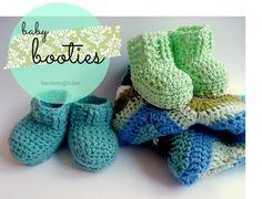 Newborn Booties Crochet Pattern | kardiomuffelchen hat auch andere gute Anleitungen!