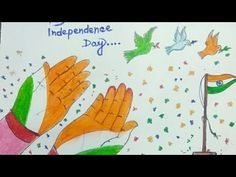 Independence Day Drawing || Independence Day Poster || Happy Independence Day Drawing || Jai Hind - YouTube Independence Day Drawing, Independence Day Poster, Happy Independence Day, Farm Animals Preschool, Poster Drawing, Indian Architecture, Freedom Fighters, Drawing For Kids, Art Drawings