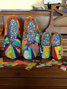 Snappy Slippers and Jack & Jill Slippers, pattern by Cool Cat Creations.