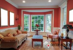 red wall color for living room  Choose The Right Paint For Wall Decorations