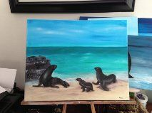Sea Lions Sea Lions, My Arts, Arts And Crafts, Painting, Paintings, Draw, Art And Craft, Crafts, Drawings
