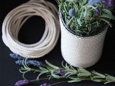DIY Rope-Wrapped Glass Vase   Made + Remade