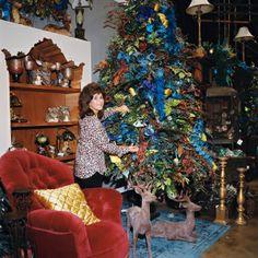 Miss Cayce's Christmas Store-Peacock Splendor Christmas Theme Tree