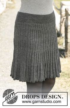 First lady / DROPS - free knitting patterns by DROPS design Free pattern History of Knitting Yarn spinning, weaving and stitching careers such as for example BC. Pleated Skirt Pattern, Skirt Pattern Free, Free Pattern, Crochet Skirts, Knit Skirt, Knit Crochet, Knitting Patterns Free, Free Knitting, Crochet Patterns