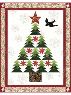 The Home Do The Job Bench - Your Own Home Base For All Do It Yourself Get The Job Done Assignments Christmas In The Country Quilt Sewing Pattern From Coach House Designs Christmas Tree Quilt, Christmas Quilt Patterns, Christmas Sewing, Christmas Crafts, Christmas Quilting Projects, Christmas Blocks, Christmas Christmas, Handmade Christmas, Christmas Ideas