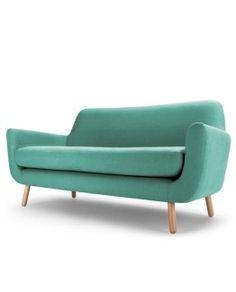 Jonah 2 Seater Sofa Med Blue