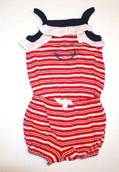 NWT Ralph Lauren Baby Girls Bubble Sleeveless Nautical Romper 3 Months #RalphLauren #Everyday