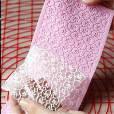 Quality silicone lace mold fondant cake decorating tool forma de silicone cake mold baking mats forma de bolo ferramenta with free worldwide shipping on AliExpress Mobile Fondant Molds, Cake Mold, Fondant Cakes, Cupcake Cakes, Sugar Lace, Sugar Veil, Cake Decorating Techniques, Cake Decorating Tutorials, Edible Lace