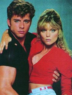 Stephanie Zinone, Michael Carrington, Grease 2, film, 1980s, 80s, 1982, michelle pfeiffer, Maxwell Caulfield