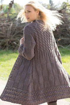 Knitting Paterns, Knit Patterns, Knitting Socks, Clothing Patterns, Knit Cardigan Pattern, Crochet Cardigan, Knit Crochet, Knitted Coat, Vestidos