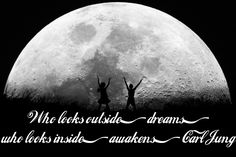 Lucid Dream Quotes: Who looks outside, dreams; who looks inside, awakens. - Carl Jung