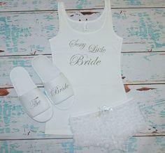 Sexy Little Bride Lingerie Set. Bride Panties. Bridal Slippers. Bride Tank Top Shirt. Bridal Shower Gift. Bachelorette Gift. on Etsy, $38.50