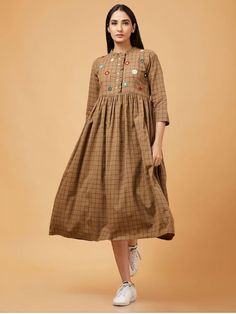f4d9e3d518 Beautiful Cotton dress with superb detailing. Cotton Dresses Online
