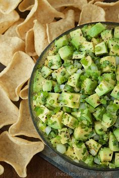 Best Avocado Salsa - kind of like a grown up guacamole. Loaded with delicious fresh flavor and texture, the fabulous avocados really shine!