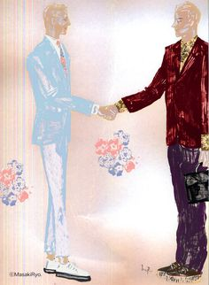 Marc Jacobs and Prada 2014 S/S | Illustration by Masaki Ryo