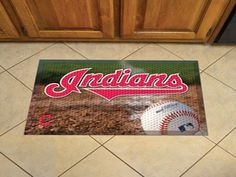 "MLB - Cleveland Indians Scraper Mat 19""x30"" - Ball"