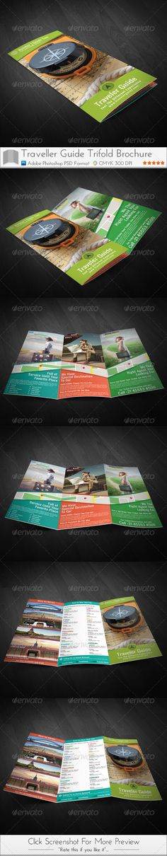 Traveler Guide Trifold Brochure