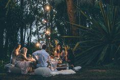 Bohemian camping wed