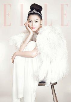 Jun Ji Hyun graces the cover of 'Elle' as a newlywed bride #allkpop