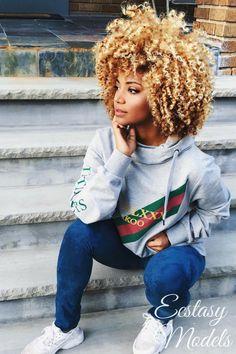 """ecstasymodels: """" Gucci Fashion & Natural Hair Look by Rene Daniella """""""