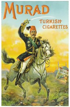 Murad Turkish Cigarettes Paper Sign : Lot 793