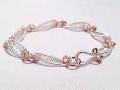 Silver Copper Wire Wrapped Scroll Bracelet by XntricCreations, $36.00